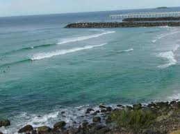 Kirra beach surfing